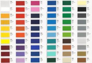Wzornik kolorów folii Oracal 641 - UWAGA - kolory na monitorze mogą się różnić od rzeczywistych!